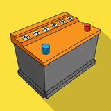 For automobile battery.Car single icon in flat style vector symbol stock illustration web. Stock Image