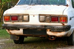 Automobile bianca Immagini Stock