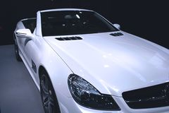Automobile bianca immagine stock