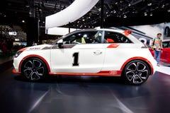 Automobile bianca Audi A1 Allroad Fotografia Stock Libera da Diritti