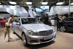 Automobile bianca del ele del Mercedes-benz c 260 immagine stock libera da diritti