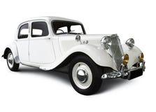 Automobile bianca di cerimonia nuziale Fotografie Stock Libere da Diritti