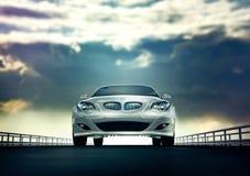 Automobile bianca elegante Immagine Stock