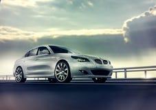 Automobile bianca elegante Immagine Stock Libera da Diritti
