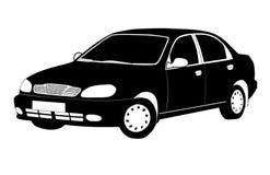 Automobile in bianco e nero. Fotografie Stock