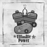 Automobile Bike Engine spark plug on vintage paper background Stock Photos