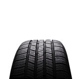 Automobile black rubber tires isolated on white Royalty Free Stock Photo