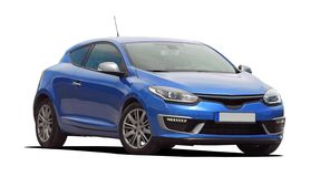 Automobile blu Fotografia Stock Libera da Diritti