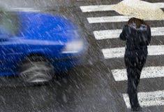 Automobile blu Immagini Stock Libere da Diritti