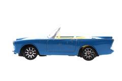 automobile blu del giocattolo del metallo Fotografia Stock Libera da Diritti
