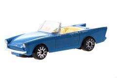 automobile blu del giocattolo del metallo Immagine Stock