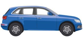 Automobile blu del hatchback illustrazione di stock