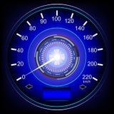 Automobile blu del tachimetro Immagini Stock