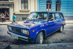 Automobile blu di Lada fotografie stock libere da diritti
