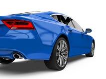 Automobile blu di lusso della berlina isolata Fotografia Stock