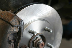 Automobile Brake Service Royalty Free Stock Photos