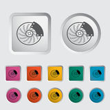 Automobile brakes single icon. Vector illustration Royalty Free Stock Photography