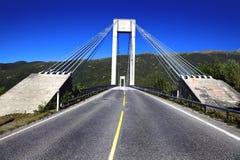 Automobile bridge. Road bridge in northern Norway Royalty Free Stock Image
