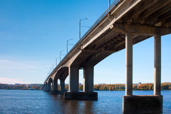 The automobile bridge of Kostroma Stock Photo