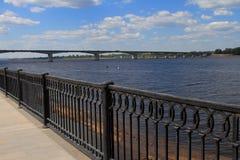 The automobile bridge in Perm. Russia. Royalty Free Stock Photos