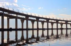 Automobile bridge in St. Petersburg Stock Images