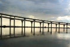 Automobile bridge in St. Petersburg Royalty Free Stock Photo