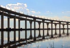 Automobile bridge in St. Petersburg Royalty Free Stock Images