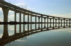 Automobile bridge in St. Petersburg Stock Image