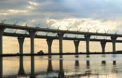 Automobile bridge in St. Petersburg Stock Photography