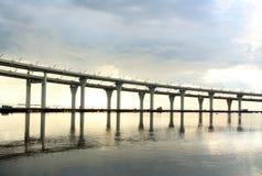 Automobile bridge in St. Petersburg Stock Photos