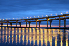Automobile bridge in St. Petersburg Stock Photos