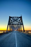 Automobile bridge on sunrise Royalty Free Stock Images