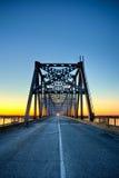 Automobile bridge on sunrise Royalty Free Stock Images
