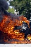 Automobile bruciante Immagine Stock Libera da Diritti