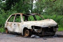 automobile bruciata fuori Immagini Stock Libere da Diritti