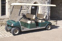 Automobile buggy. golf cart. golf car. vehicle. lightweight automobile. Stock Image