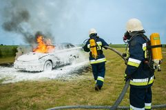 Automobile, Burning, Car Royalty Free Stock Images