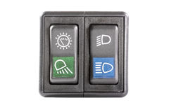 Automobile button switch Royalty Free Stock Photography