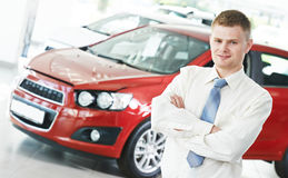 Automobile car dealer salespersom manager Stock Image