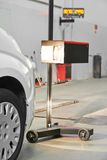 Automobile car headlight checkup Royalty Free Stock Photography