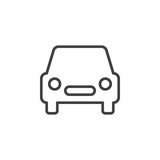 Automobile, car line icon, outline vector sign Stock Images