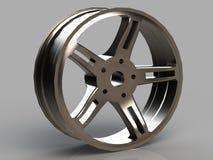Automobile cast titanium disk isolated Stock Images