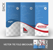Automobile Center Tri-Fold Brochure Royalty Free Stock Photos