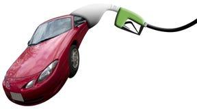 Automobile che mangia pompa Fotografia Stock Libera da Diritti