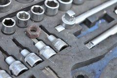 Automobile che ripara gli strumenti Fotografie Stock