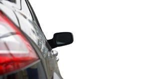 Automobile chiara posteriore isolata su priorità bassa bianca Fotografia Stock Libera da Diritti