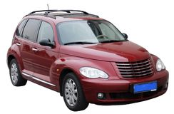 Automobile civile isolata fotografia stock