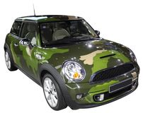 Automobile civile isolata immagine stock
