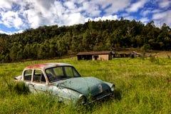 Automobile classica abbandonata Fotografia Stock