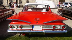 Automobile classica americana d'annata, Chevrolet Biscayne fotografia stock